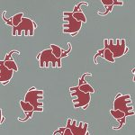 Red Elephant Fabric