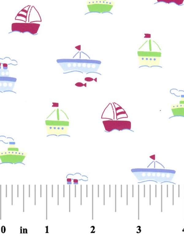 Boat print fabric boats on white nautical nursery fabric for Nautical nursery fabric