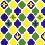 Fleur de lis Fabric - Quatrefoil Design   Gold Fleur Di Lis Fabric - #2010