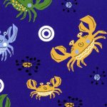 Crab Print Fabric - Purple | Crab Fabric - #2011