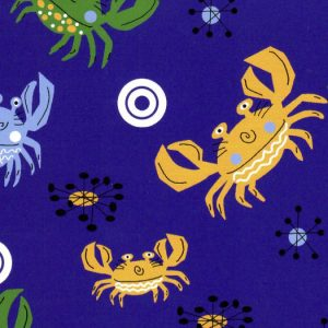 Crab Print Fabric - Purple | Crab Fabric - #2011