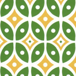 Green and Yellow Geometric Fabric | Geometric Fabric Designs - #2012
