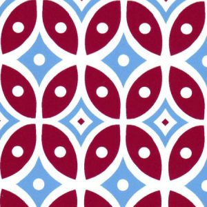 Red and Blue Geometric Fabric - Print #2014 | Geometric Fabric Prints