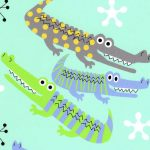 Alligator Print Fabric - Blue and Green | Alligator Fabric - #2015