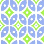 Blue and Green Geometric Fabric - #2016 | Geometric Cotton Fabric