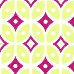 Raspberry and Green Geometric Fabric | Geometric Cotton Fabric - #2018