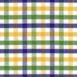 Mardi Gras Plaid Fabric - T-62