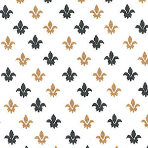 Fleur De Lis Fabric -Black and Bronze   Black and Bronze Fabric