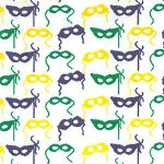 Mardi Gras Mask Fabric