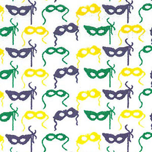 Mardi Gras Mask Fabric