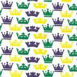 Crown Print Fabric