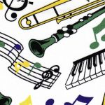Musical Instrument Fabric - Mardi Gras | Mardi Gras Fabric Wholesale