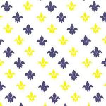 Fleur de lis Fabric: Purple and Gold | Print Fabric - 100% Cotton