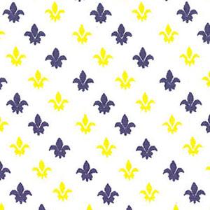 Fleur de lis Fabric: Purple and Gold | Print Fabric - 100% Cotton