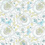 Blue Floral Fabric | Floral Fabric Wholesale - 100% Cotton