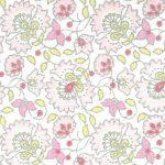 "Pink Floral Fabric - 60"" Width 