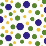 Mardi Gras Fabric - Dots