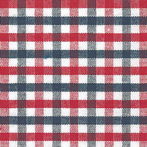 Red and Blue Check Fabric | 100% Cotton Gingham Fabric