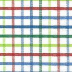 Red, Blue and Green Check Fabric - #T44 | Tattersall Fabric