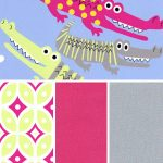Alligator Print Fabric | Coordinating Fabric Collections - 100% Cotton