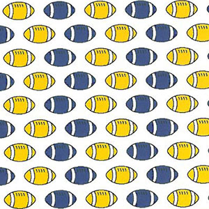 Football Print Fabric: Purple and Gold | Football Fabric Cotton - 100% Cotton
