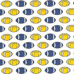 Football Print Fabric: Purple and Gold | Football Fabric Cotton - 100% Cotton