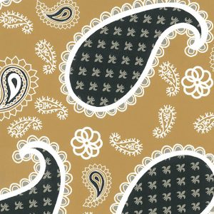 Bronze and Black Paisley Fabric: 100% Cotton | Wholesale Paisley Fabric
