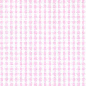 "Lemonade Pink Check Fabric - 1/16"" Check | Pink Check Fabric"