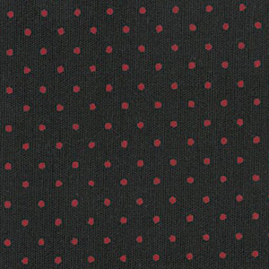 Red and Black Polka Dot Fabric