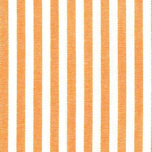 "Tangerine Orange Stripe Fabric - 1/8"" Width 
