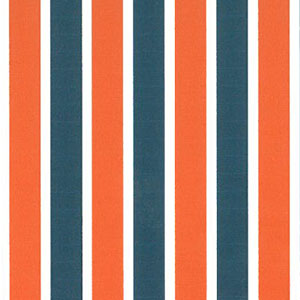 Orange and Blue Striped Fabric | Stripe Fabric Wholesale - 100% Cotton
