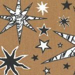 "Star Pattern Fabric: Black and White Stars | Fabric With Stars - 60"" Wide"