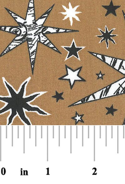 Star pattern fabric black and white stars fabric with for Star design fabric