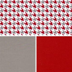 Houndstooth Fabric Collection: Red & Grey | Red and Grey Fabric