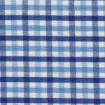 Cobalt, Nautical, and White Check Fabric - T#104 | Tattersall Check Fabric