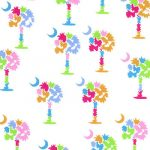 Palmetto Tree Fabric: Multi Color Fabric | Tree Print Fabric - 100% Cotton