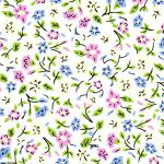 Yellow, Green Pink and Blue Floral Fabric | Multi Color Floral Fabric