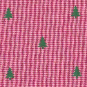 Christmas Tree Fabric: Red Micro Check Fabric | Christmas Fabric