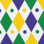 Mardi Gras Diamond Fabric: 100% Cotton   Mardi Gras Fabric