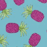 Hot Pink Pineapple Fabric: 100% Cotton | Pineapple Cotton Fabric