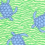 Blue Turtle Print Fabric: 100% Cotton | Sea Turtle Fabric