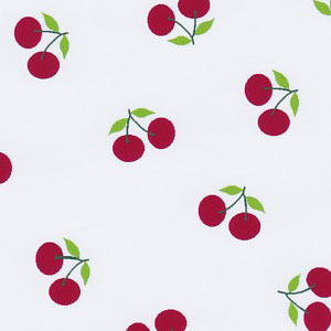 Cherry Print Fabric - Red: 100% Cotton | Cherry Cotton Fabric