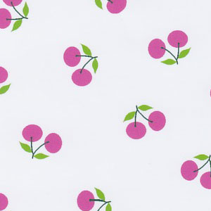 Cherry Print Fabric - Pink: 100% Cotton | Cherry Fabric Wholesale