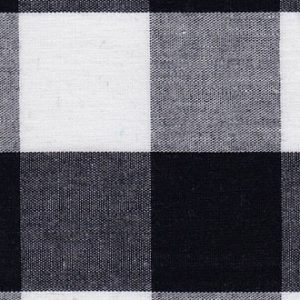 "1"" Gingham Fabric: Black 