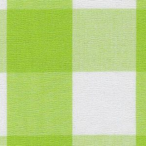 """Bright Lime Gingham Fabric: 1"""" 