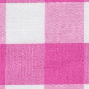 Hot Pink Gingham Fabric: 1"
