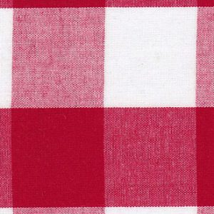 Red Gingham Fabric: 1""