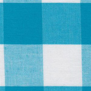 "1"" Gingham Fabric: Turquoise 