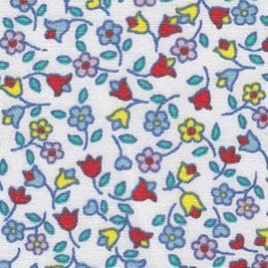 Red, Yellow and Blue Floral Fabric