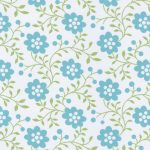 Aqua and Green Floral Fabric